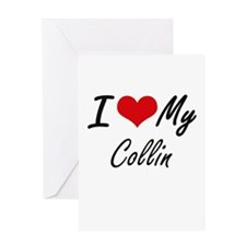 I Love My Collin Greeting Cards