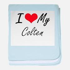 I Love My Colten baby blanket