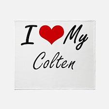 I Love My Colten Throw Blanket