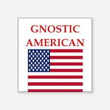 gnostic american Sticker