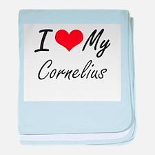 I Love My Cornelius baby blanket