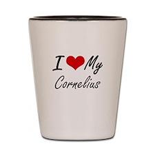 I Love My Cornelius Shot Glass