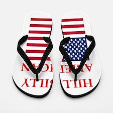 hillbilly american Flip Flops