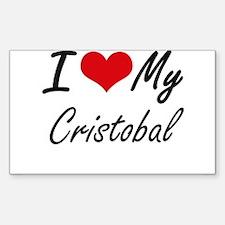 I Love My Cristobal Decal