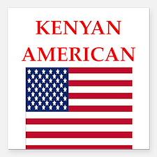 """kenyan Square Car Magnet 3"""" x 3"""""""