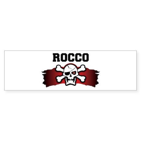 rocco is a pirate Bumper Sticker