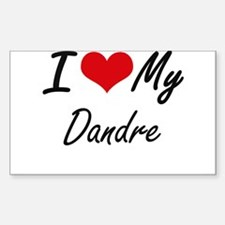 I Love My Dandre Decal