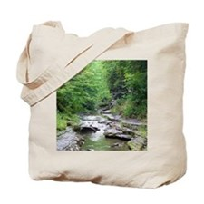 forest river scenery Tote Bag