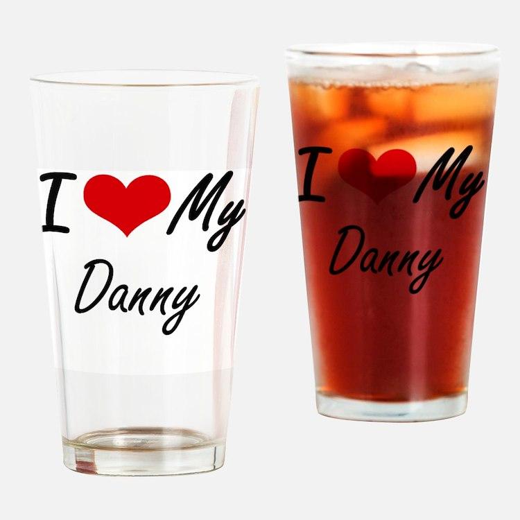 Cute Danny Drinking Glass