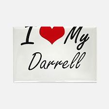 I Love My Darrell Magnets
