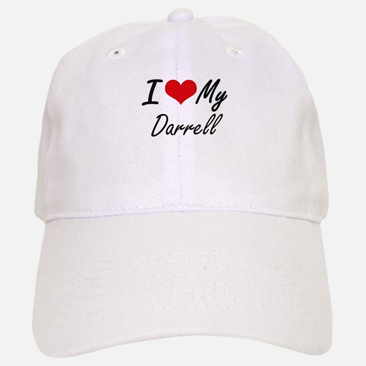 I Love My Darrell Baseball Baseball Cap