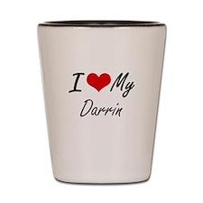 I Love My Darrin Shot Glass