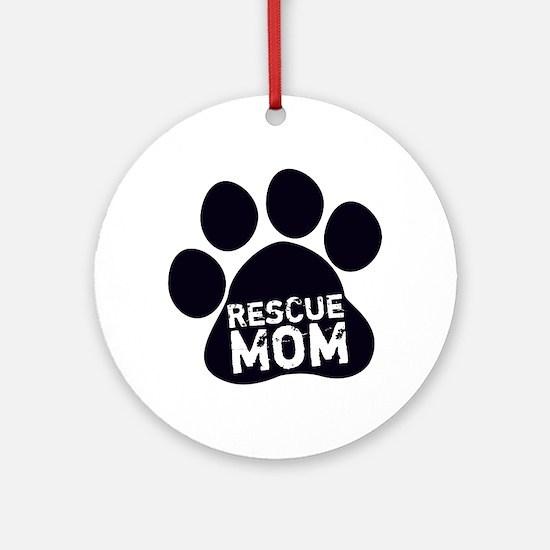 Rescue Mom Round Ornament