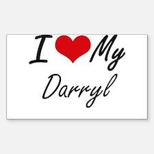 I Love My Darryl Decal