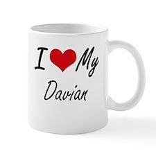 I Love My Davian Mugs