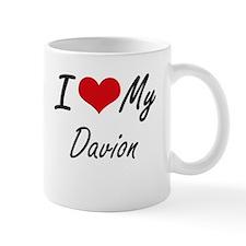 I Love My Davion Mugs