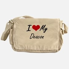 I Love My Deacon Messenger Bag