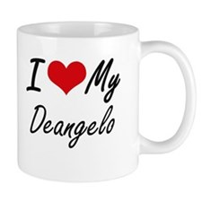 I Love My Deangelo Mugs