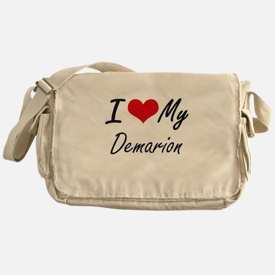 I Love My Demarion Messenger Bag