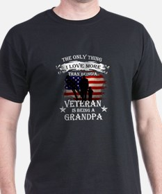 Grandpa Veteran T-shirt - The only thing I T-Shirt