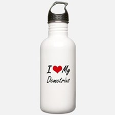 I Love My Demetrius Water Bottle