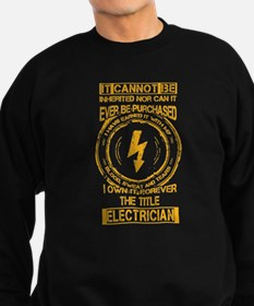 Electrician T-shirt - It cannot Jumper Sweater