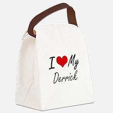 I Love My Derrick Canvas Lunch Bag