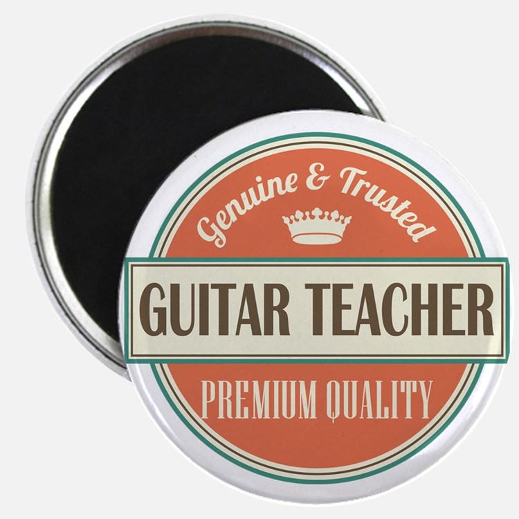 guitar teacher vintage logo Magnet