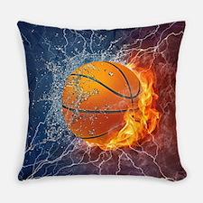 Flaming Basketball Ball Splash Everyday Pillow
