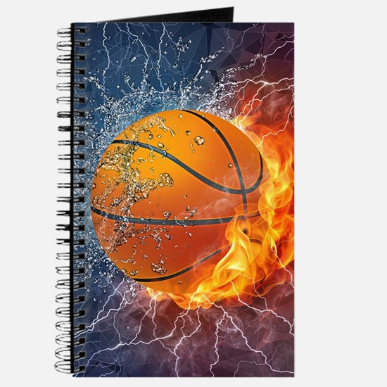 Flaming Basketball Ball Splash Journal