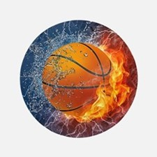 Flaming Basketball Ball Splash Button