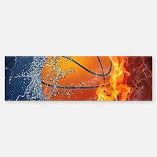 Flaming Basketball Ball Splash Bumper Bumper Bumper Sticker