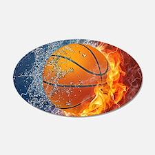 Flaming Basketball Ball Splash Wall Sticker