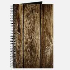 Rustic Wood Planks Journal