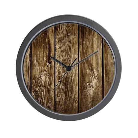 rustic wood planks wall clock by wickeddesigns4