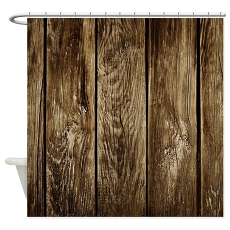 Rustic Wood Planks Shower Curtain By WickedDesigns4
