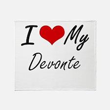I Love My Devonte Throw Blanket
