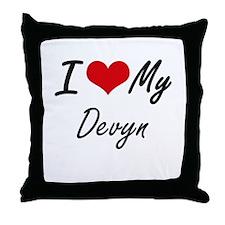 I Love My Devyn Throw Pillow