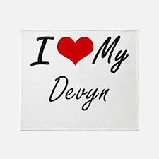 I Love My Devyn Throw Blanket