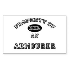 Property of an Armourer Rectangle Decal