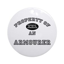 Property of an Armourer Ornament (Round)