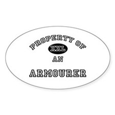 Property of an Armourer Oval Decal