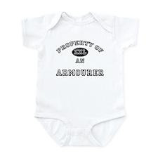 Property of an Armourer Infant Bodysuit