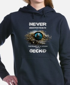 Gecko T-shirt - Never un Women's Hooded Sweatshirt