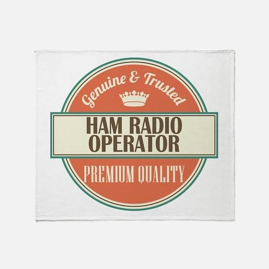ham radio operator vintage logo Throw Blanket