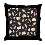 Foodie Fairground Art Throw Pillow