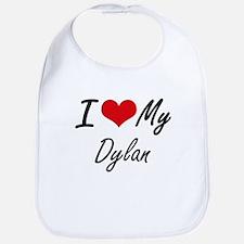 I Love My Dylan Bib