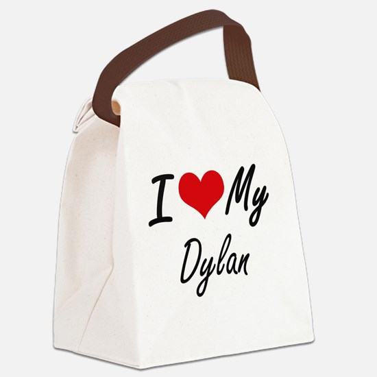 I Love My Dylan Canvas Lunch Bag
