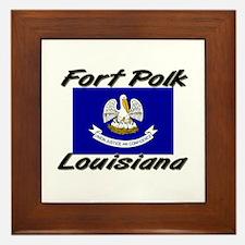 Fort Polk Louisiana Framed Tile