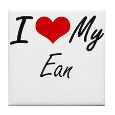 I Love My Ean Tile Coaster
